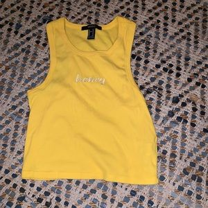 Forever 21 yellow honey tank